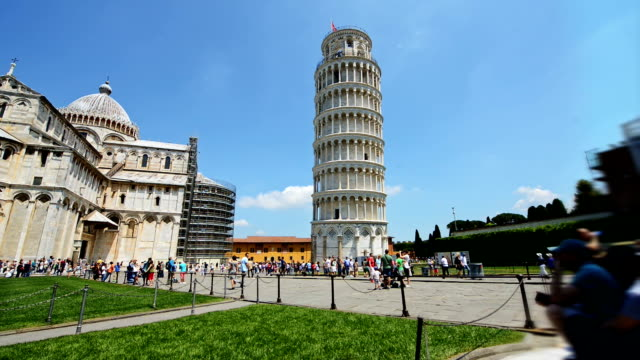 ünlü mimari cazibe pisa i̇talya - pisa kulesi stok videoları ve detay görüntü çekimi