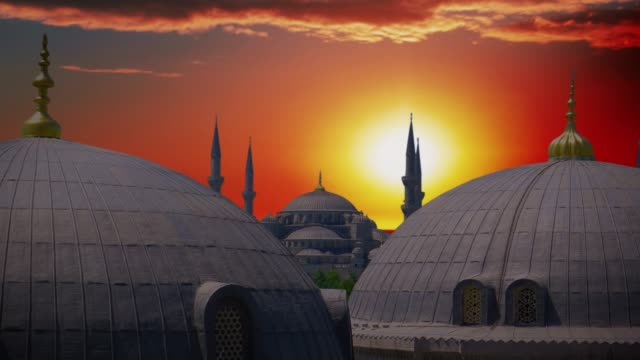 famous blue mosque in istanbul, turkey. - grand bazaar video stock e b–roll