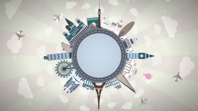 Famous European Landmarks - Seamless Loop: #2 video