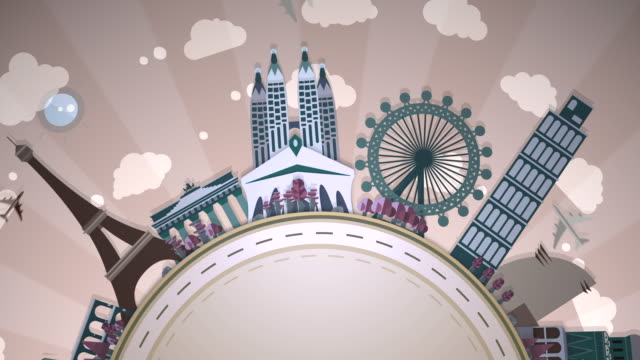 Famous European Landmarks - Semi-Circle Loop: #2 video