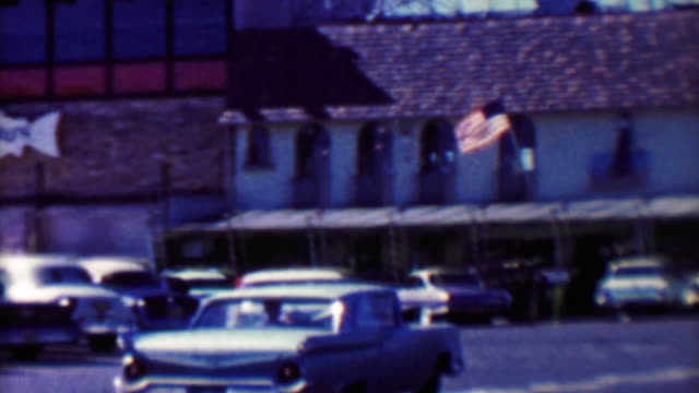 1961: Famous Fisherman's Wharf restaurant historic Alioto's Seafood. video