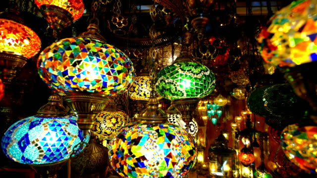 vídeos de stock e filmes b-roll de famous grand bazar shop in istanbul turkey - istambul