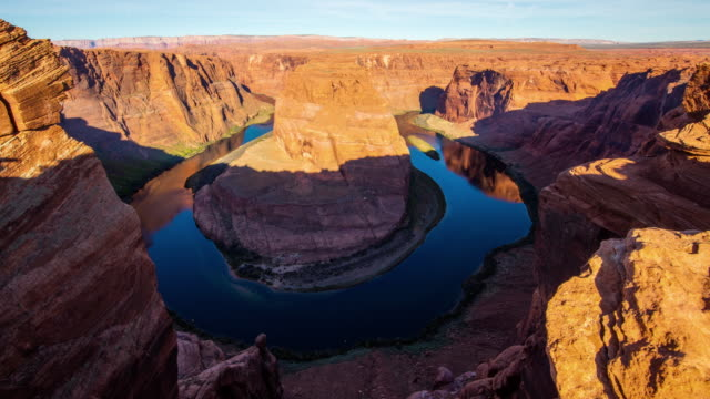 T/L 8K Famous landmark Horseshoe Bend at sunrise video