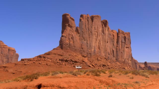 Famous Monument Valley in the desert of Utah