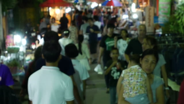Famous Night Market Walking Street, Lampang, Thailand video
