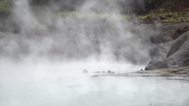 berömda noboribetsu hot springs, hokkaido, japan - hokkaido bildbanksvideor och videomaterial från bakom kulisserna