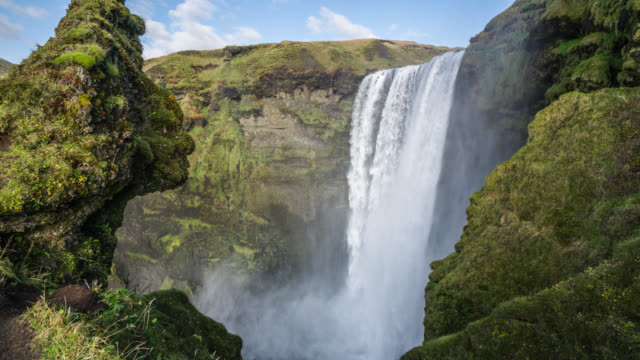 Famous Skogafoss Waterfall in southern Iceland video
