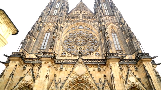 famous st vitus cathedral in prague - gothic fashion stock videos and b-roll footage