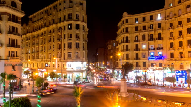 Famous Talaat Harb Square in downtown Cairo, Egypt video