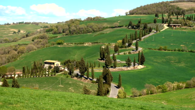 famous winding road at the Siena region video