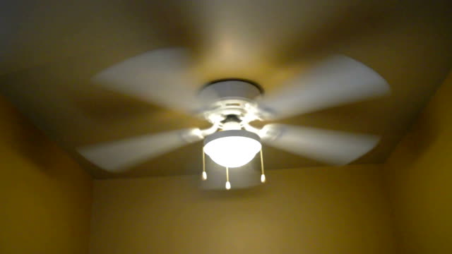 Fan light on ceiling