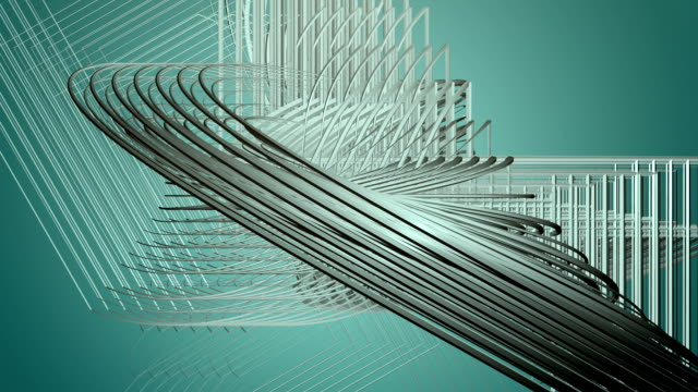 Fantastic animation with abstract 3D object in slow motion, loop HD 1080p video