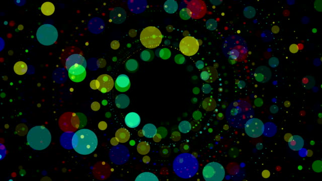 Fantastic animation with particle object in motion, loop HD video