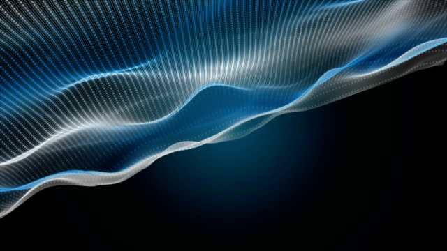 Fantastic animation with wave object in slow motion, loop HD 1080p video