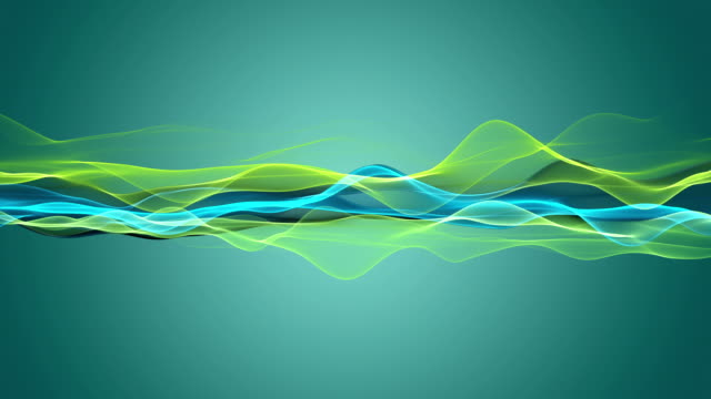 Fantastic eco animation with particle wave object in slow motion, loop HD 1080p video