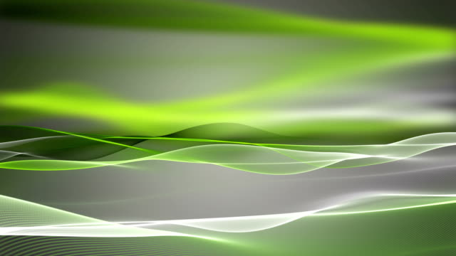 Fantastic eco animation with wave background in slow motion, loop HD video