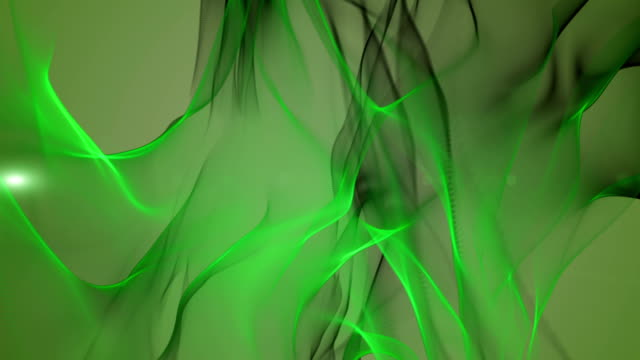 Fantastic eco wave object with light in motion, loop HD video