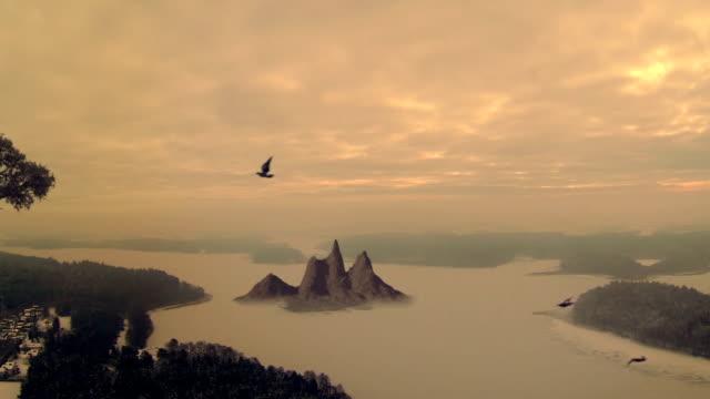 fantastic landscape panorame video
