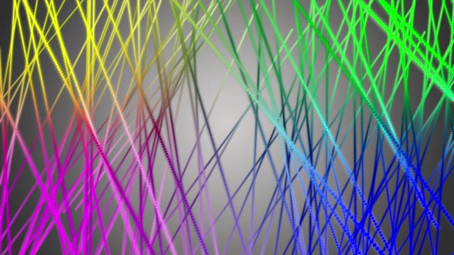Fantastic moving particle stripe object, loop HD video
