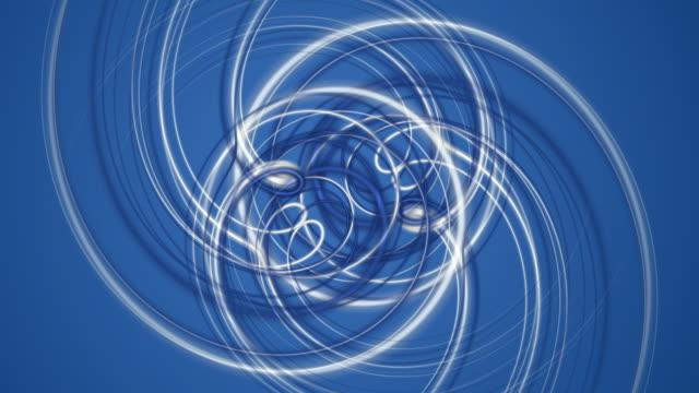Fantastic moving stripe object, loop HD video
