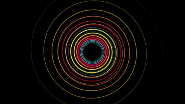 Fantastic particle stripe object in slow motion, loop HD video