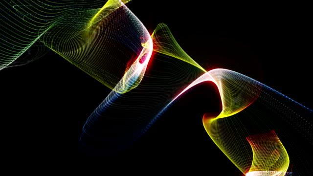fantastisk partikel vinkar objekt i slow motion, loop hd - människoblod bildbanksvideor och videomaterial från bakom kulisserna