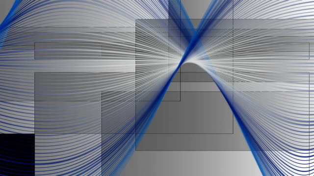 Fantastic wave object and rectangles in motion, loop HD video