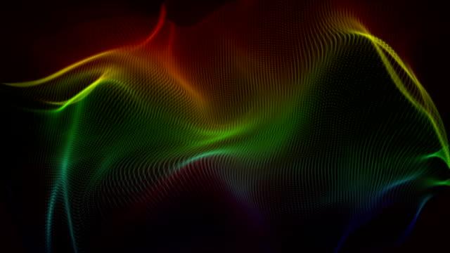 Fantastic wave object in slow motion, loop HD video