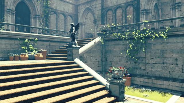 Fantasy medieval mansion video