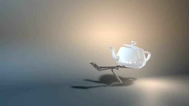 fantasy teapot - teapot stock videos & royalty-free footage
