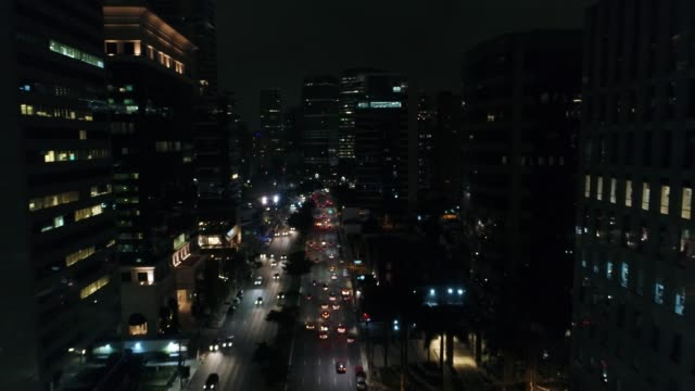 Faria Lima Avenue in Sao Paulo at night, Brazil video