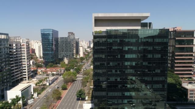 Faria Lima Avenue in Sao Paulo, Brazil Faria Lima Avenue in Sao Paulo, Brazil avenue stock videos & royalty-free footage