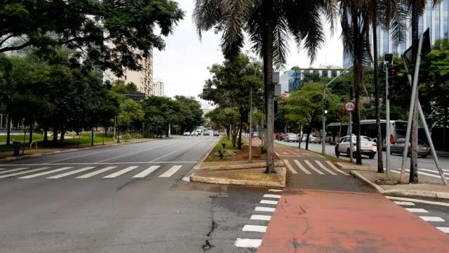 vídeos y material grabado en eventos de stock de la avenida faria lima en sao paulo - avenida