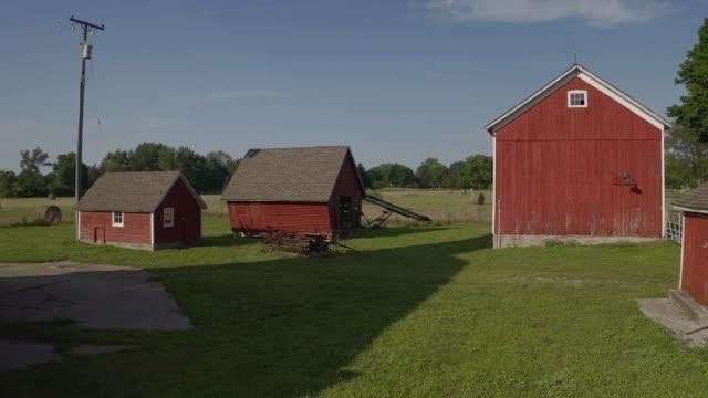 Farm Mid-west Michigan Farm barns stock videos & royalty-free footage