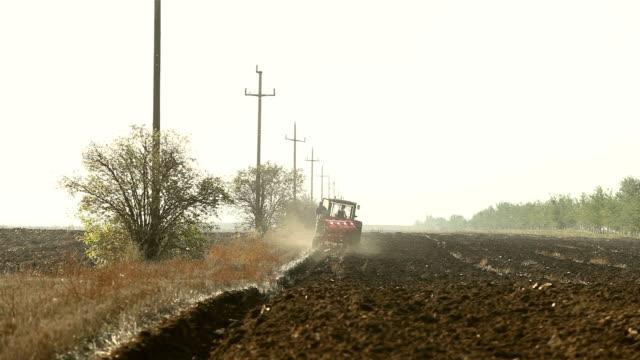 Farmer Plowing The Soil video