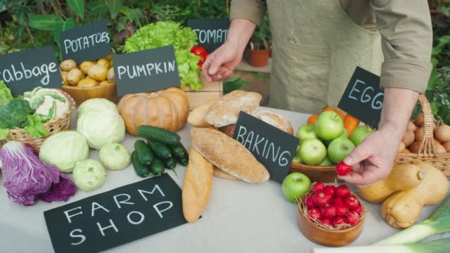 Farmer Selling Fresh Produce