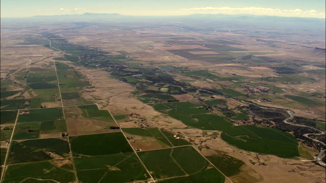 Farmland Around Sun River  - Aerial View - Montana, Lewis and Clark County, United States video