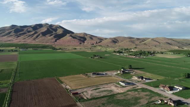 farmen und ackerland in ländlichen westen der usa - utah stock-videos und b-roll-filmmaterial