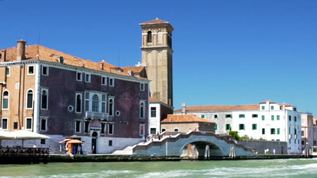 Fascinating view of Venice San Geremia church bell tower, Italian landmarks video