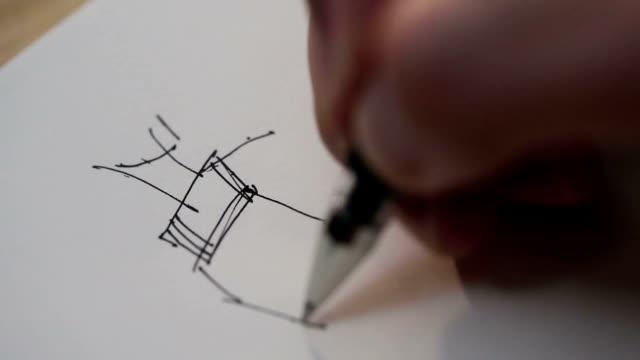 мода и дизайн - набросок стоковые видео и кадры b-roll
