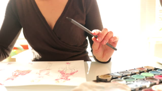Fashion Designer Drawing Ideas in Sketches video