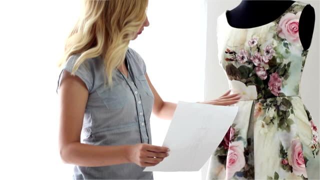 Fashion designer woman video