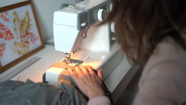 Fashion Designer Woman Working At Home - Small Business