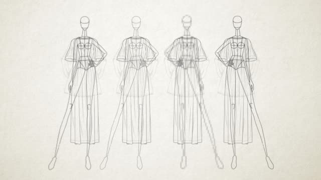 Fashion Doll - Simple - animation of a Mannequin Clothes Stand