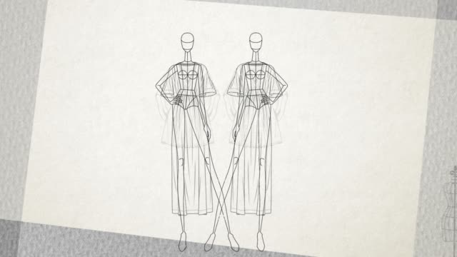 vidéos et rushes de fashion doll - simple - animation d'un stand de vêtements mannequin - haute couture