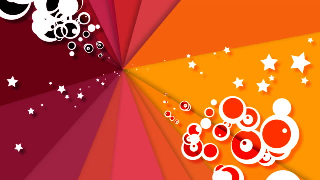 fashion Stars and Circle loopable background - Full HD video