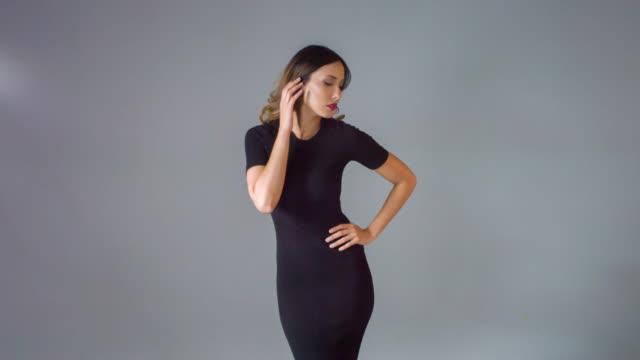 Fashion woman posing for he camera