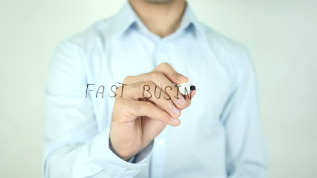 Fast business, Writing on Screen video