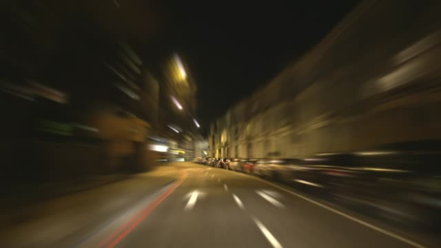 Fast City Night Driving Time-lapse. HD video