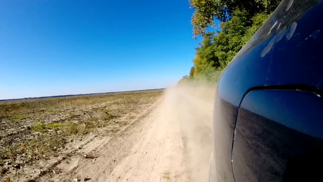 Fast driving a car in the countryside. video